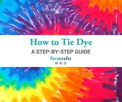 Tie Dye Mixing Chart Tie Dye Instructions A Step By Step Guide Favecrafts Com