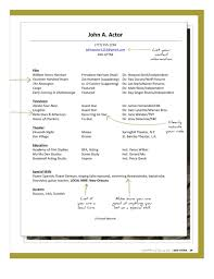 Child Actor Resume 20 Acting Template Free How To Write An With No