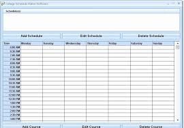 Online Shift Schedule Maker Free College Schedule Maker School Schedule Template Schedule