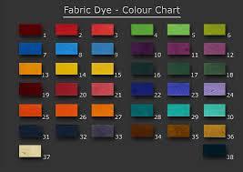 Fabric Dye Colour Chart