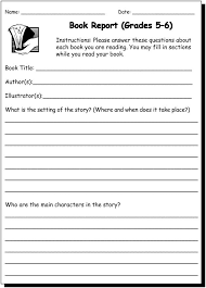Book Report 5 & 6 - Writing Practice Worksheet for 5th and 6th Grade ...