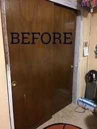 bargain sliding closet door makeover