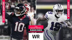 Nfl Depth Chart Cheat Sheet 2017 Updated 2019 Fantasy Football Wr Rankings Sporting News