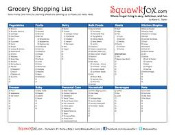 grocery checklist printable grocery shopping list squawkfox