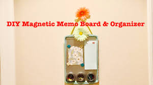 How To Make A Magnetic Memo Board DIY Dollar Tree Magnetic Memo Board Organizer Easy Starts at 95