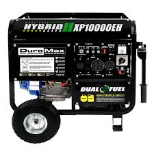 generators power generators sears duromax 10000w hybrid portable dual fuel electric start generator rv standby camping