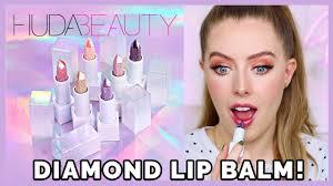 <b>HUDA BEAUTY</b> DIAMOND <b>LIP</b> BALM! Review + All Shades Swatched!