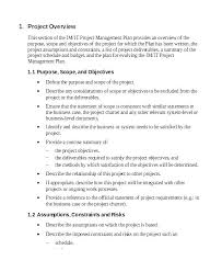 Executive Summary Outline Project Management Overview Template Plan Sample Executive