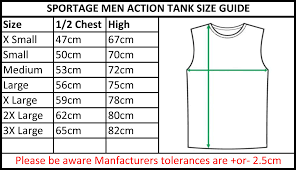 Tank Top Size Chart Men Mens Tank Tops Size Chart Rldm