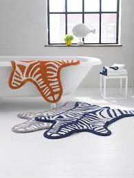 accessories bathroom accessories zebra bath mat reversible 112 x 79 cm by
