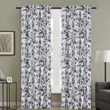 Central Nature/Floral Sheer Rod Pocket Curtain Panels (Set Of 2)