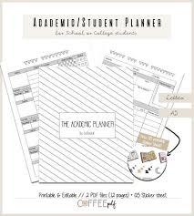 free school planner printables academic student planner back to school planner college planner printable in letter a5 size free sticker sheet