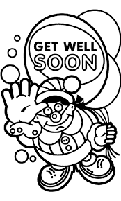 Small Picture Get Well Soon Coloring Pages fablesfromthefriendscom