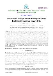 Automated Solar Street Light System Ppt Pdf Internet Of Things Based Intelligent Street Lighting