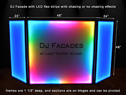 shown above is our dj facade with option 2 lighting