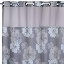 bathroom design awesome hookless gray fl pattern extra long regarding measurements 2000 x 2000