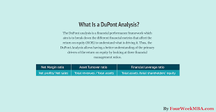 What Is A Dupont Analysis How To Perform A Dupont Analysis