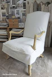 nice beautiful white armless chair slipcover and chair and a half slipcover