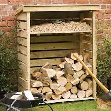 Image is loading Outdoor-Log-Storage-Garden-Fire-Dry-Wood-Shed-