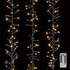 Warm White Led String Lights White Wire Cluster Garland Lights 600 Warm White Led Lights Green