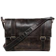 baccini messenger bag distressed leather noela brown contrastdark laptop shoulder bag business work cross bag college business