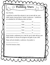 parent teacher conference letters learning and teaching with preschoolers parent teacher conferences