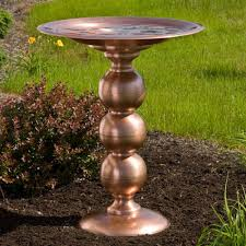 hanging bird baths pedestal bird baths signature hardware copper topiary pedestal birdbath