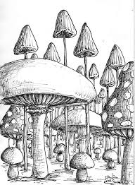 Small Picture Magic Mushroom Coloring Pages Cool Trippy Mushroom Drawings