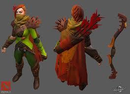artstation dota 2 windranger character skin preston law