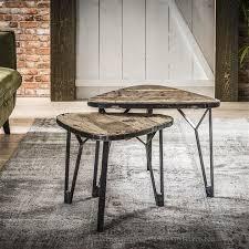 industrial coffee table antonio set of