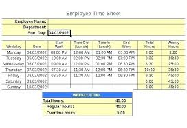 Excel Formula For Timesheet Overtime Excel Template Work Hours City Co With Calculator