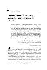 pdf shame conflicts and tragedy in the scarlet letter
