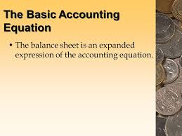 3 the basic accounting equation the balance sheet is an expanded expression of the accounting equation