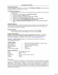 Software Testing Resume Samples 2 Years Experience Software Testing Resume format for Experienced Inspirational 2