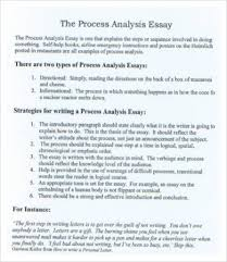 analysis essay template samples examples format  process analysis essay sample