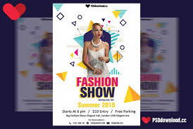 poster psd free download fashion show flyer template psd download