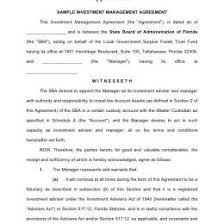 7 Investment Contract Templates Free 59818600037 Business