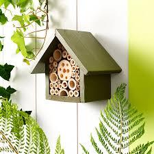 handmade single tier bee hotel
