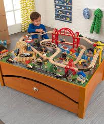 kidkraft honey metropolis train table set