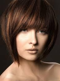 Highlights In Short Dark Brown Hair Brown Hairs