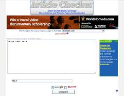 tools for checking duplicate content com article checker is a web plagiarism checker that lets you check for duplicate or plagiarized content on the web site