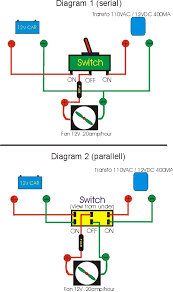 fan fridge 110v Switch Wiring Diagram also add a warning 12v light (just to tell you that the fan is working) in parallel with the fan; you just have to drill another hole beside the switch 110v electric motor switch wiring diagram