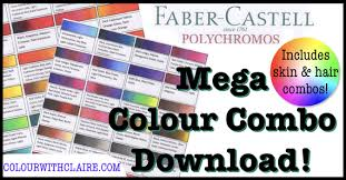 Mega Polychromos Combo Chart Colour With Claire