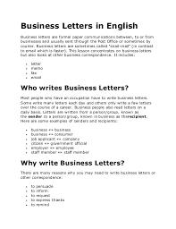 Formal Letter English Writing A Formal Letter In English Examples