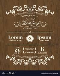 Wedding Invitation Templates With Photo Vintage Typography Wedding Invitation Template
