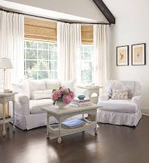 Curtain for the living room Simple Living Room Bay Windows With White Curtains Better Homes And Gardens Bay And Bow Window Treatment Ideas