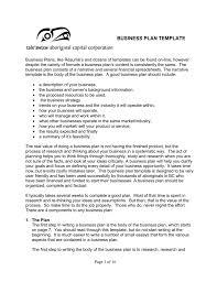 Business Plan Template Tale Awtxw Aboriginal Capital