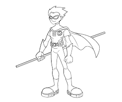 Small Picture Printable Teen Titans Robin 4 Coloring Page kids coloring
