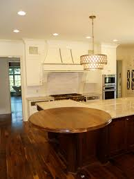 walnut wood countertop 54 diameter large double roman ogee edge permanent finish this walnut round top was installed in charlotte nc