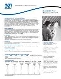 Climate Pro Insulation Coverage Chart Climate Pro Johns Manville Pdf Catalogs Documentation